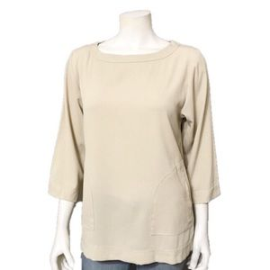 Linea by Louis Dell'Olio | Oatmeal Tunic Blouse